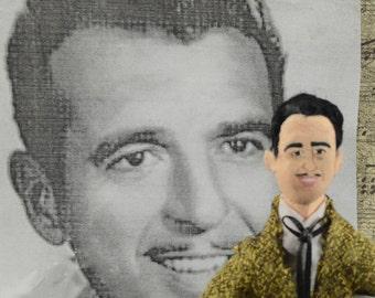 Tennessee Ernie Ford Doll Miniature Music History Art Uneek Doll Designs