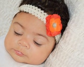 Orange Baby Head band