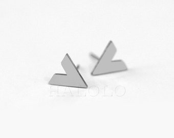 Triangle Stainless Steel Earring Post Finding  (EX025D)