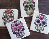 Sugar Skulls - day of the dead coasters