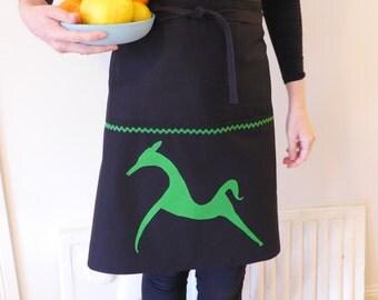 Green horse half apron