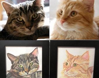 CUSTOM Watercolor Pencil Pet Portrait from Your Photos