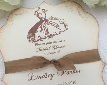 Bridal Shower Invitations Dress