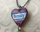 FAMILY Stamped Ceramic Necklace