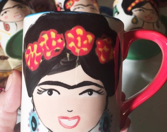 Frida-inspired Ceramic Mug