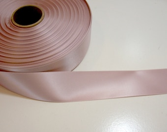 Pink Ribbon, Double-Faced Light Pink Mauve Satin Ribbon 1 1/2 inches wide x 7 yards