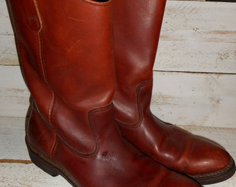 Vintage Eddie Bauer Riding/Cowboy Boots Men's Leather Boot's ,Vintage Cowboy,Riding,Biker Boots 12 B