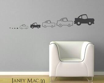 Car Wall Decal - Vinyl Transportation Wall Decal - Childrens Bedroom Wall Decor - Vinyl Car Wall Art Sticker - CB125