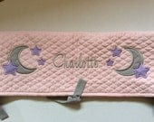 Personalized Crib rail cover - made to match baby's nursery