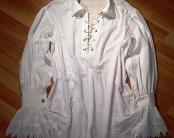 Pirate Shirt Custom made to order Costume Accessory Shirt Cosplay Halloween Costume Wedding Groom Best man Poet shirt Historical costume