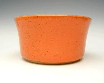 Contemporary ceramic planter Succulent pot Modern Planter Stoneware planter pottery planter orange herb pot 6 1/4 x 3 1/4 free shipping f-9