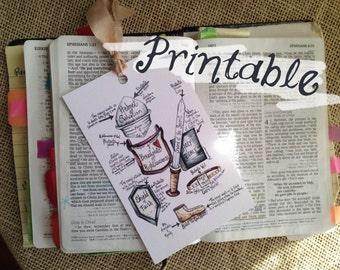 Spiritual Armor Printable Bookmarks