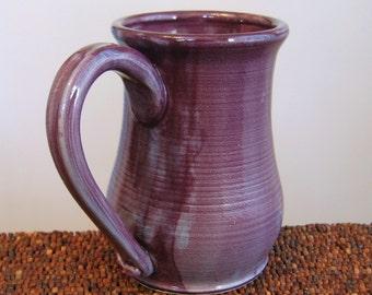Purple Pottery Mug 14 oz. Large Stoneware Ceramic Coffee Mug