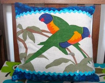 Australiana rainbow lorrikeet cushion cover
