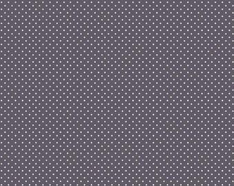 50% OFF Think Pink Dots Gray  - 1/2 Yard