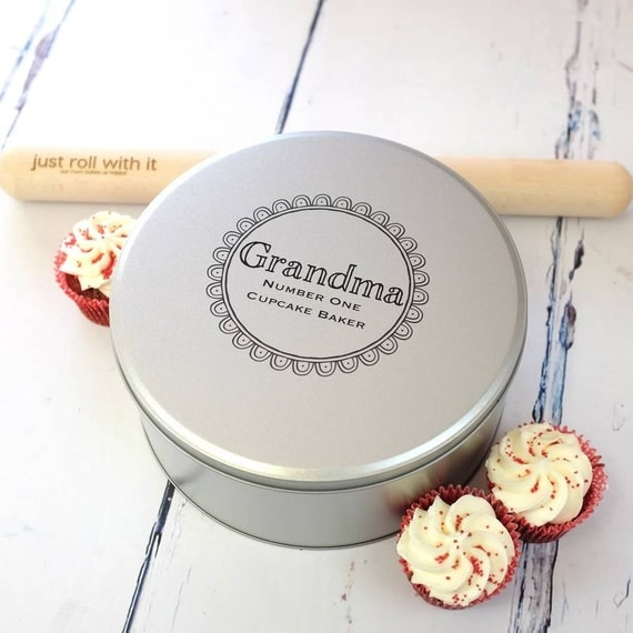 Cake Tin with Printed Personalisation Personalized Cake