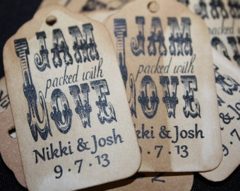 """Jam Packed with Love Choose your quantity SMALL 2"""" Favor Tag"""