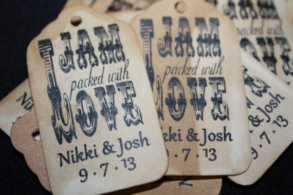 "Jam Packed with Love Choose your quantity SMALL 2"" Favor Tag"