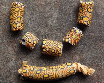 Large Antique Millefiori Beads from the African Trade