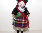 Handmade Felt Art Doll Scottish Girl
