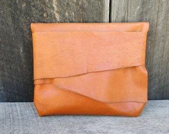 Autumn Orange Woodland Light Traveler Eco Leather Clutch