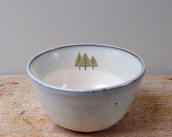 Pine Trees Cereal Bowl