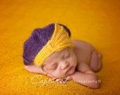 Fan Beret - newborn photo prop, newborn beret