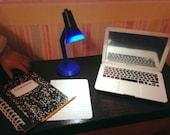 American Girl size desk lamp, light.  Adjustable LED