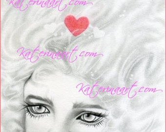 FREE digi stamp coloring page Queen of Hearts  PRE SHADED