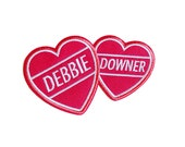 debbie downer hearts | Iron on embroidered patch