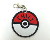 Pokemon Go Button cusomized key chain or bag tag personalized