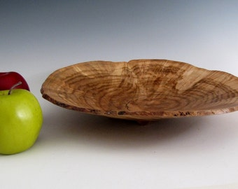 Natural Edge Maple Burl Wood Turned  Bowl or Platter - Housewarming Gift- Wedding Gift- Gifts for Him - Gifts for Her