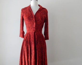 Carl Naftal dress • vintage 1950s dress • 50s day dress