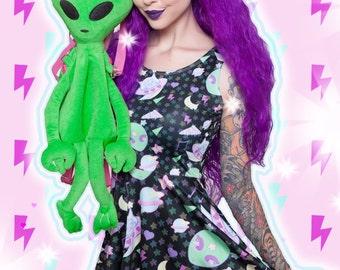 Trixie the Alien bear Dress, Pastel Alien Bear Dress, Pastel Alien Dress