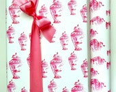 Pink Wrapping Paper, Ginger Jar, Chinoiserie, Gift Wrapping, Wrapping Paper, Roll, Gift Wrap, Traditional, All Occasion, Original Design