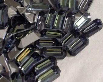 6 10x5mm Sahara Baguettes Machine Cut Preciosa 10x5mm Baguettes Preciosa Sahara Octagons Preciosa Baguettes
