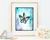 Butterfly Races Nursery Decor Instant Digital Download DIY Print yourself