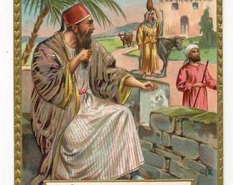 Tuck Postcard - Ten Commandments Series - Number Nine - 9th Commandment
