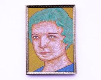 original portrait painting 5x7