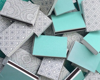 100 Custom Matchboxes Inspired by WEDDING magazine Wedding Favors