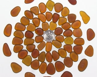 Amber Luster Pendants Assorted sizes (60+) Jewelry Quality Genuine Beach Sea Glass Lot from Ft Bragg (A1)