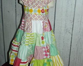 Gypsy Patchwork Twirl Dress Girls Size 5T