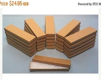 Pre Holiday Stock Up Sale 50 Pack Kraft Cotton Filled Presentation Jewelry Boxes 8 X 2 X 1 Inch Size