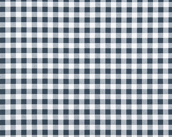 Buffalo Plaid Navy and White - Premier Prints Plaid Navy - One Piece - 1 yard 20 inches