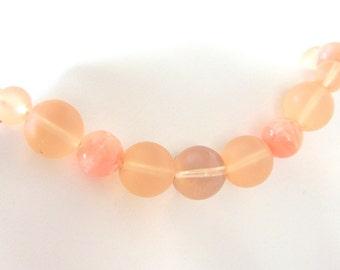 Vintage Peach / Orange Sherbert Bubbles Necklace