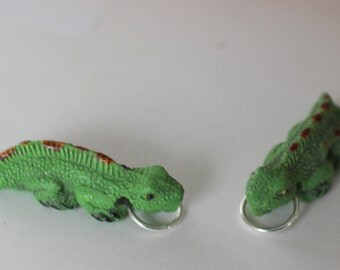 13 Iguana, Gecko Ornaments, Package Tie Ons,  Pendants