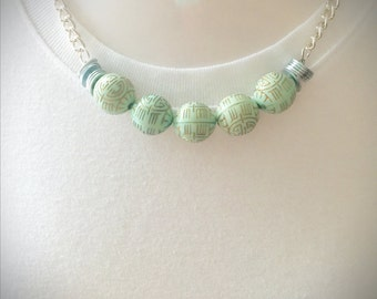 Minty Meander necklace