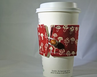 Red Mushroom Coffee Sleeve