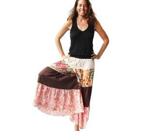 ON SALE - Hippie Chic Bloomers - Drawstring Waist, Ruffled, Tiered, Pants