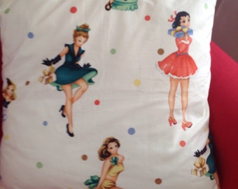 Pin Up Bomshells Pillow Cover